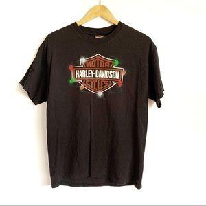 Harley Davidson Black Large Logo Texas Graphic Tee